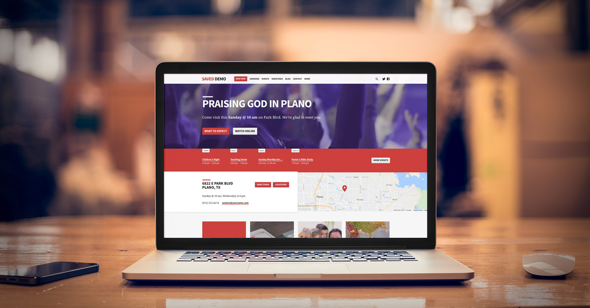 Saved - Another Great WordPress Theme from ChurchThemes.com